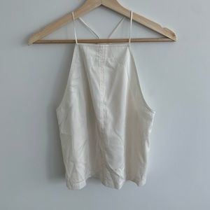 T by Alexander Wang-Lined Cream Halter Top